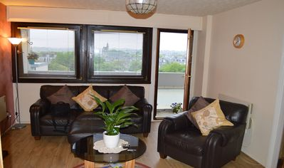 Photo for Aberdeen City Centre Apartment & Private Balcony, Welcome Pack, Fast Fibre Wifi.