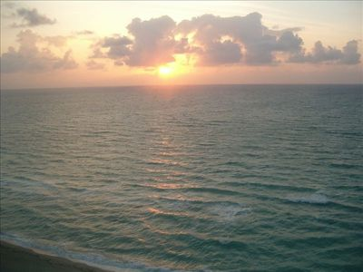 View of sunrise from the condo