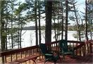 View of Little Spider Lake off our large and spacious deck.