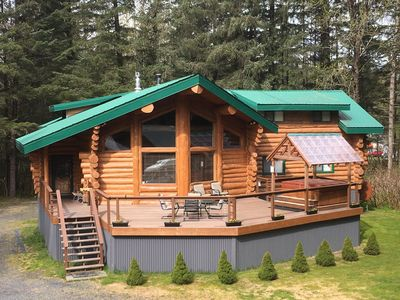 Photo for Custom-Built Log Home : Clean, Spacious, and only 4 miles from downtown Seward!