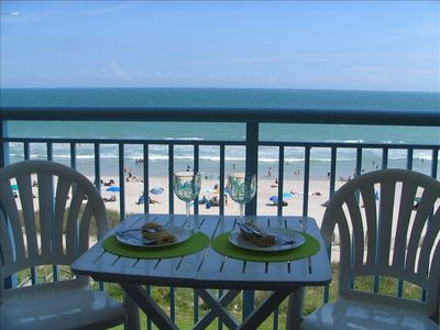 Balcony View - Enjoy the oceanfront dining!