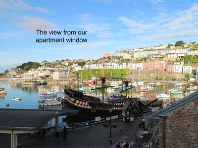 Photo for Lovely apartment located directly on the Quay overlooking Brixham Harbour