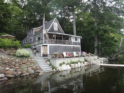 Photo for Lake Front Cottage in Beautiful Mid-Coast Maine