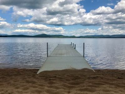 Photo for Lakefront home with 100 feet of sandy beach on Ossipee Lake!