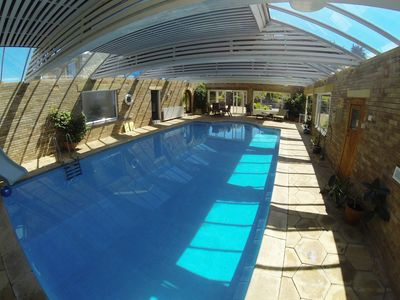 Photo for 4* Gold Ground  Apartment with own indoor pool, sauna + snooker room in Swanage.