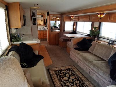 Photo for Cozy RV - TV, Wi-fi, Gated Parking, sleeps 6