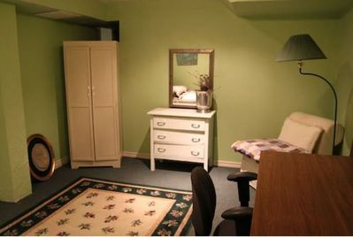 Large bedroom with full size desk