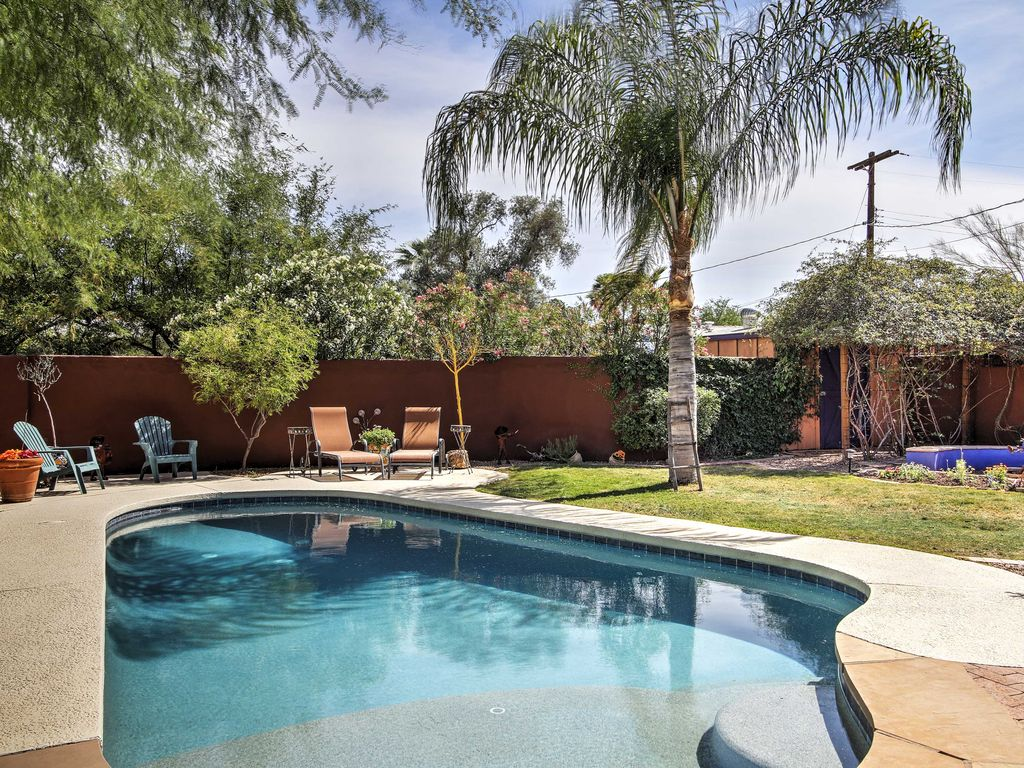 Spacious Tucson Home W Lush Yard Pool Hot Tub 4 Br Vacation House For Rent In Sewell