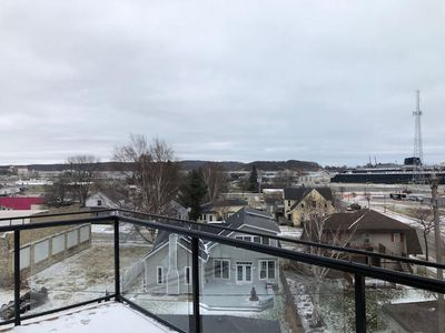 Photo for 3 Bed; 2 Bath Condo overlooking Ludington Harbor and Badger Dock!
