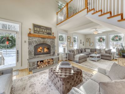 Photo for Secluded, elegant home w/ a furnished deck - close to skiing!