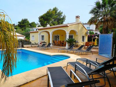 Photo for This 4-bedroom villa for up to 8 guests is located in Javea and has a private swimming pool and air-