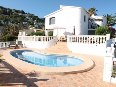 Photo for Luxury detached villa, stunning sea views, private pool and garden