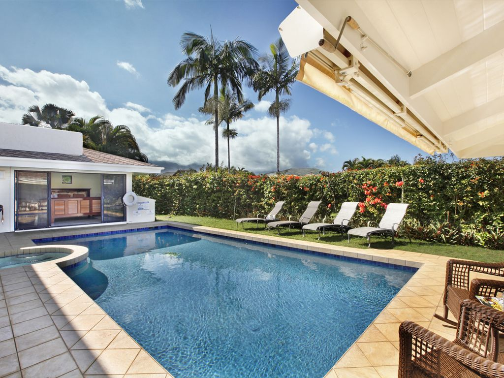 5 bedroom house with private pool princeville kauai for 5 bedroom house with pool
