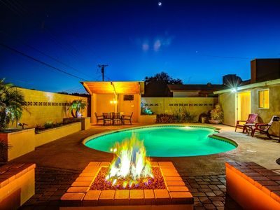 Photo for DIAMOND Oldtown Scottsdale 5 BDRM Estate w/Heated Pool-Spa ❤️ Resort Yard w/2 Cabanas-Spa-Billiards.