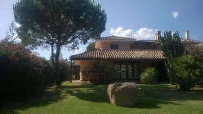 Photo for Relaxing villa in the green to 5 minutes walk from the sea. unlimited wifi.