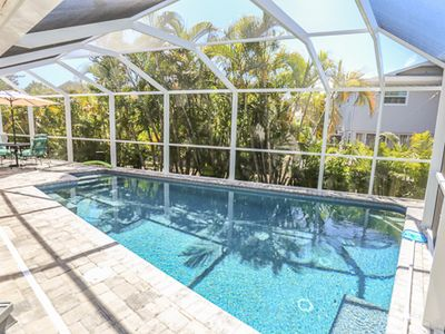 243 Miramar is a three bedroom, two full bath 1 level home and is just three homes off Estero Bay