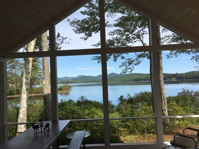 View from inside the screened in porch