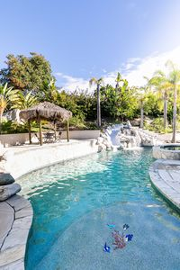 Luxurious Retreat with Hot Tub and Pool Centrally Located!