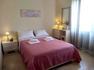 Photo for Two-bedroom traditional Cycladic holiday home in Platanias, only 100m to beach!