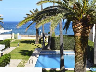 Photo for Wonderful and cheerful apartment in Denia, on the Costa Blanca, Spain  with communal pool for 6 persons