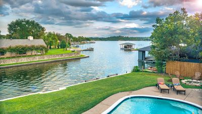 Photo for SPACIOUS Granbury lakefront house with pool for Large/Multiple Families