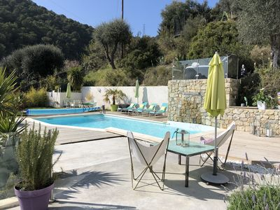 Photo for Nice heights: Villa with pool and jacuzzi for 8 pers.