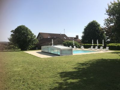 Photo for 5 bed converted Barn with heated pool & hot tub in the heart of the Perigord