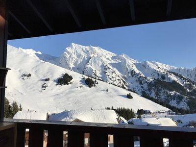 Photo for DUPLEX south and west on the ski slopes and connected to the field of La Clusaz