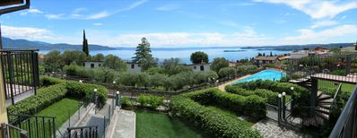 Photo for Lake Garda West, Toscolano Maderno, Apartment with panoramic lake view and pool