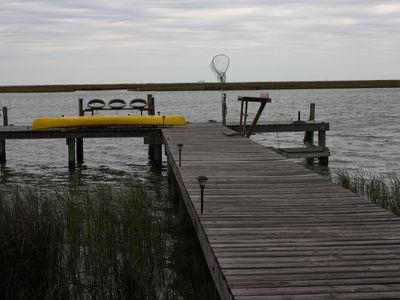 Photo for Waterfront bay house and property with a boat pier.