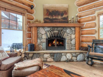 Photo for Luxury Powder Ridge Cabin With Ski Access! Prime Wooded Location With Hot Tub.