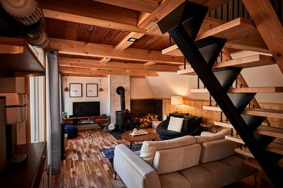 Warm, comfy, cozy...all the things you need for a chalet get away!
