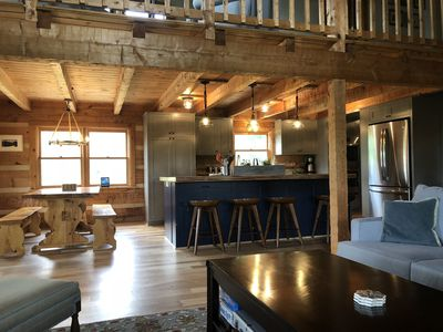 Renovated 2018! New open kitchen and island, wide plank hickory hardwood floors