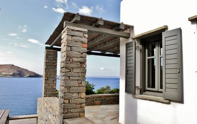 The entrance and the terrace - just a touch from the sea