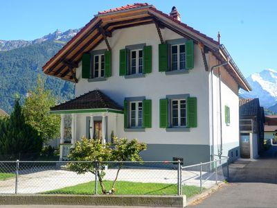 Photo for Jungfrau Family Holiday Home, 5 bedrooms, sleeps 12, garden, BBQ, and parking