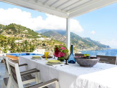 """Photo for ✨AMALFICOAST Sea Access """"MISTRAL"""" x 6 GUESTS ✨ SOLARIUM ✨ PARKING ✨ JACUZZI"""
