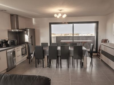 Photo for Modern villa for 10 pers. on the dunes between sea and lagoon. St Cyprien Wifi