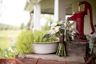 Step back in time on the farmhouse front porch