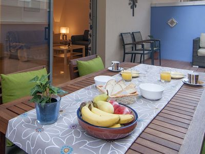 Photo for Stylish 2 Bedroom Groundfloor With Huge Terrace 1 Minute From Sitges Beach