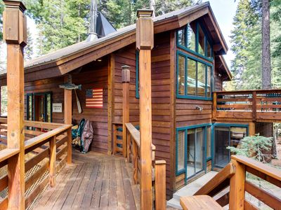 Photo for Cabin in the woods w/ shared swimming pool and private beach