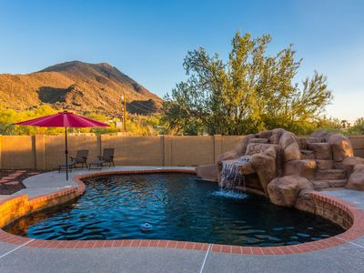 Photo for Saguaro Sunset at Cave Creek  - Backyard Mountain Views, Private Pool & Hot Tub