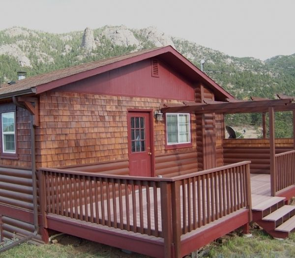 Rocky mountain sunshine cabin views pet friendly 3 bed 2 for Pet friendly colorado cabins