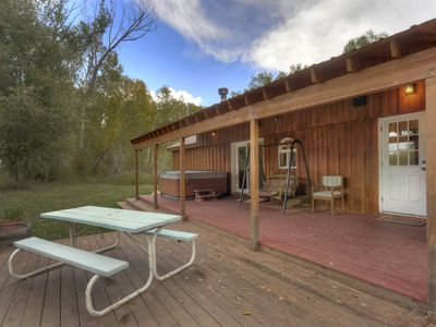 Ordinaire Hot Tub Deck Durango U0026 Hesperus Colorado Riverside Vacation Rental Cabin  Fishing