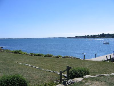Right side, toward Groton Long Point. Private pier.