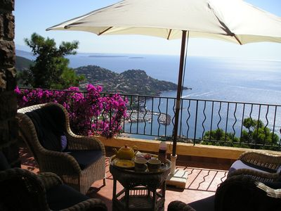 Photo for Charming villa with great views, large garden, heated pool and full privacy