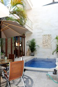 Enjoy our villa Alfresco outdoor area by the private plunge pool