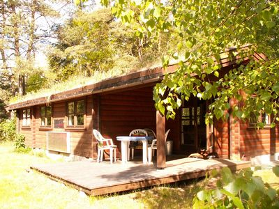 Photo for Log cabin on a 2000 m² nature estate, only5 km to the sea