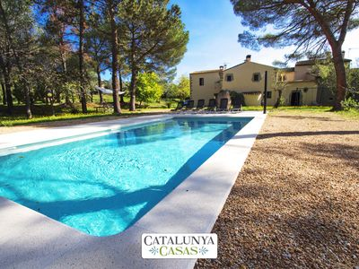 Photo for Rustic 7-bedroom villa in Santa Cristina only 4km from the beaches of Costa Brava!