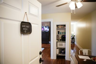 Private 2 BR, 1BA plus shower room, hospitality center w/dining for 4 people.