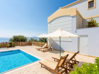 Photo for Villa Alya: Private Pool, Walk to Beach, Sea Views, A/C, WiFi, Car Not Required, Eco-Friendly